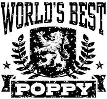 World's Best Poppy t-shirts