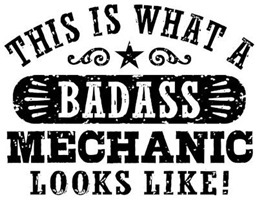 Badass Mechanic t-shirts