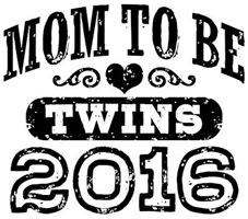 Mom To Be Twins 2016 t-shirt
