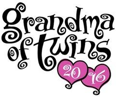Grandma of Twins 2016 t-shirt