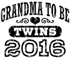 Grandma To Be Twins 2016 t-shirt