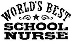 World's Best School Nurse t-shirts