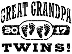 Great Grandpa 2017 Twins t-shirts