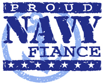 Proud Navy Fiance t-shirts