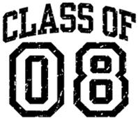 Class of 08 t-shirt