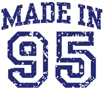 Made in 95 t-shirt