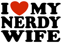 I Love My Nerdy Wife t-shirt