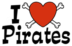 I Love Pirates t-shirts