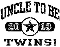 Uncle To Be Twins 2013 t-shirt