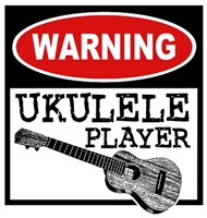 Warning Ukulele Player t-shirt