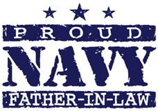 Proud Navy Father In Law t-shirt