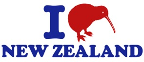 I Love New Zealand t-shirts