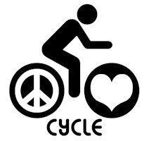 Peace Love Cycle t-shirts