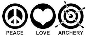 Peace Love Archery t-shirts