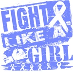 Esophageal Cancer Burnout Fight Like a Girl Shirts