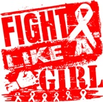 Blood Cancer Burnout Fight Like a Girl Shirts