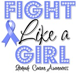 Stomach Cancer Fight Like a Girl Shirts