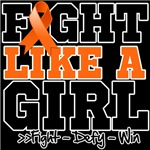 Kidney Cancer Sporty Fight Like a Girl Shirts