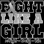 Sporty Fight Like a Girl Brain Cancer Shirts