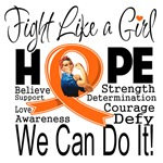 Multiple Sclerosis Hope Fight Like a Girl Shirts