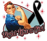Rosie Riveter Fight Like a Girl Melanoma