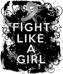Fight Like a Girl Brain Cancer Grunge Shirts