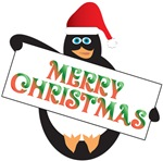 Merry Christmas Cute Penguin