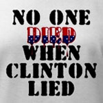 No one died - Clinton