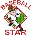 Baseball Star Pitcher Red