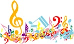 Mixed Musical Notes (color)