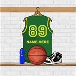 Personalized Basketball Jersey Green