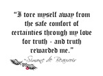 Simone de Beauvoir Truth Quote