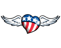 Winged American Heart