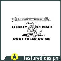Culpeper Flag Don't Tread on Me T-Shirts