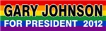Rainbow Gary Johnson for President