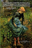 Pissarro Art of Impressions: shepherdess Painting