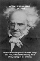 Schopenhauer: Few Wise / Majority Fools