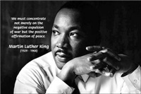 End of Violence with Peace: Martin Luther King Jr.