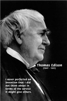 Inventor Thomas Edison: Response to Human Needs