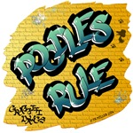 Poodles Rule! (Green Graffiti Lettering)