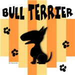 Bull Terrier Yellow/Orange Stripe