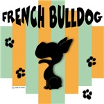 French Bulldog Green/Orange Stripe