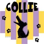 Collie Yellow/Purple Stripe