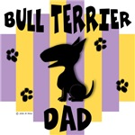 Bull Terrier Dad - Yellow/Purple Stripe