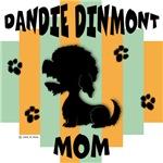 Dandie Dinmont Terrier Mom - Green/Orange Stripe