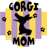 Welsh Corgi Mom - Yellow/Purple Stripe