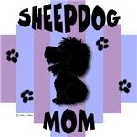 Sheepdog Mom Blue/Purple Stripe