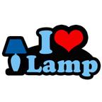 i heart lamp