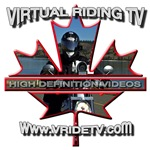Virtual Riding TV maple leaf logo