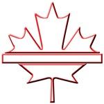 Maple leaf outline logo vridetv & Canada HD